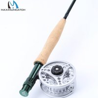 All'ingrosso- Maxcatch Extreme Fly Fishing Combo 9FT 5WT Fly Rod con grande bobina in alluminio Arbor