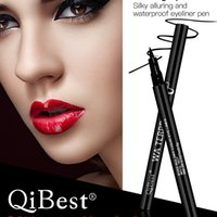 Qibest Silky Soft Black Eyeliner Cool Black Quick Eyeliner Pencil Anti-sweat Waterproof No Dropping Бесплатная доставка