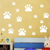 Graphic vinyl black modern cabinet - Removable Footprint Wall Stickers Scenery Wallpaper Mural Art PVC Vinyl Home Decoration Little Bear Tracks Wall Decal tm J R