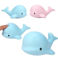 Squeezed Dolphin Toy 10CM Jumbo Slow Rising Whale Cetacean Kawaii Fish Soft Cute Hand Pillow Hand Wrist Toy Gift