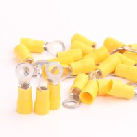 Wholesale Yellow Ring pre insulated terminals AWG mm2 for Electrical Wiring RV5 RV5 S RV5 RV5 O Type Ring Connectors