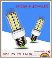 Wholesale E26 Led 7w Bulb - YOU 5PCS E12 E14 E26 E27 B22 G9 GU10 LED Corn Light Bulb 7W 12W 15W 18W 21W 30W SMD5730 LED Corn Lamp