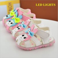 Wholesale Baby Kids Manufacturer - China manufacturer 2017 new PU leather bow cartoon girl toddler sandals beach summer light shoes baby kids rubber soft sole white pink 0-4