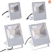 Wholesale waterproof boat led lights - 10W 30W 50W 100W 150W 200W White shell led Floodlight Outdoor LED Flood light lamp waterproof LED Tunnel Fishing boats light street lamp
