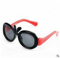 мультфильм очки кролик оптовых-856 гибкая TR90 пластиковые титановые солнцезащитные очки дети солнцезащитные очки девушки мультфильм милый животных Кролик дизайн поляризованные линзы УФ