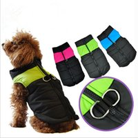 Wholesale Winter Coat D - Pets Apparel Dog Clothes Cotton Jackets Soft Waterproof Cloth Comfort Dog Jumpsuits Easy Washing D Buckle Design Multi Colors 5 Sizes YYA338