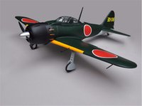 Wholesale Scale Plane - Wholesale- WWII Scale Plane Japanese Zero Fighter 46 Nitro Airplane 53.5 Inch 5 Channels ARF RC Balsa Wood Plane Model