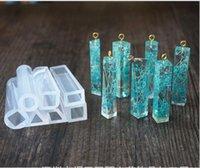 Wholesale Liquid Silicone Mold Wholesale - Hot Liquid Silicone Mold DIY Resin Jewelry Column Pendant Necklace Mold Free Shipping