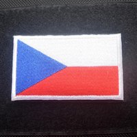 Wholesale Country Patch - 30PCS Embroidered Czech Republic Flag Patches Army Badge Patch 3D Tactical Patches Fabric Cloth Armband Country Flag Badges