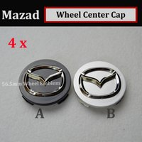 Wholesale Mazda Wheel Center Hub Cap - Hot sale 4pcs 56mm emblem Auto Wheel Hub Emblem Caps for CX 5 7 9 RX MPV MX Car Wheel Center Covers