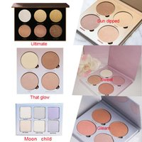 Wholesale Sun Glow Wholesale - Makeup Glow Kit Blusher Powder Face Palette cosmetic that Glow Gleam Sun Dipped Sweets Moon Child 5 Colors