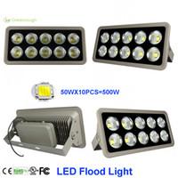 yüksek güçlü bahçe spotları toptan satış-Yüksek Güç COB LED Sel Işık 150 W 200 W 300 W 400 W 500 W Su Geçirmez Açık Bahçe Spot Ticari Projektörler AC85-265V