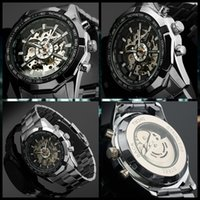 Wholesale Winner Time - Hot 2017 Winner Luxury Brand Luxury Sport Men Automatic Skeleton Mechanical Military Watch Men full Steel Stainless Band