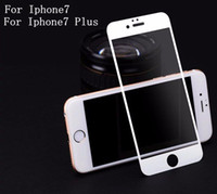 temperli cam ekran koruyucusu renkleri iphone toptan satış-0.2mm iPhone 7 Için 4.7 inç 7 artı 5.5 inç Tam Kapak Temperli Cam Ekran Koruyucu Anti-çizik 2 renkler