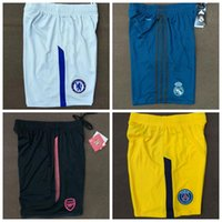 Wholesale Men Home Pants - Top thai quality 17 18 Real Madrid Chelsea AC Milan Inter Paris Home Away pants 2017 2018 Rome Totti NEYMAR JR Football shorts free shipping
