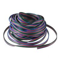 fios de extensão led rgb venda por atacado-10 M 4 pinos RGB Extensão Wir 5050/3528 RGB Led tira cabo de extensão cabo de fio frete grátis