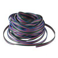 cables de extensión led rgb al por mayor-10M 4 pin RGB Extension Wir 5050/3528 RGB Led strip cable de extensión cable de alambre envío gratis