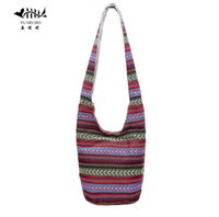 Grossiste Bohemian Femmes Shoulder Crossbody Sac Gypsy Hobo Hippie Bucket Messenger Cross Sac À Corps Handmade Hipster Thai Top Sacs