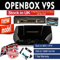 Wholesale Satellite Receiver Boxes - Openbox V9S v9 Satellite Receiver HD Set Top Box For Cable TV Support WEB TV Biss Key USB Wifi 3G CCCAMD NEWCAMD IPTV