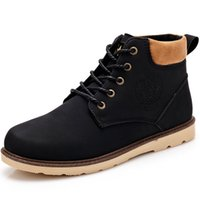 Wholesale High Sole Motorcycle Boots - Wholesale-2016 new winter shoes breathable soft leather men boots antiskid rubber sole botas warm fur motorcycle male shoes snow boots