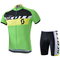 Wholesale Cheap Bicycle Jerseys - Summer SCOTT Cycling Jersey Set Ropa Ciclismo Bike Racing MTB Quick Dry Bicycle Clothing Short Sleeves China Cheap Shirtwear