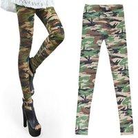 ingrosso giacche verdi delle donne-All'ingrosso-1PC Fashion Cool Womens Girls Sexy Camo Camouflage Soft Stretch Pantaloni Army Green Autunno Inverno Pantaloni Leggings 2016 Hot
