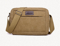 Sac Bandoulière Chine Pas Cher-Sac à bandoulière Vintage simple Canvas Shoulder Crossbody Sac à main rétro Casual Travel Messenger Satchel pour hommes Vente en gros en provenance de Chine Fabricant