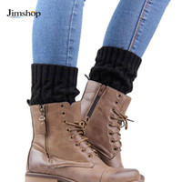 Wholesale Korean Boots Free Shipping - Wholesale- Jimshop Korean Women Lady Winter Knitted Crochet Socks Leg Boots Warmer Cover Leggings Free shipping
