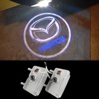 Wholesale Door Logo Light Mazda - LED Car Door Logo Light For Mazda 6 ATENZA Ghost Shadow Courtesy Laser Projector Welcome Lamp 2013-2016