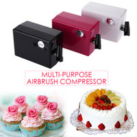 Wholesale Airbrush Gun Cake - Wholesale- 0.4mm Multi-purpose Airbrush Compressor Spray Art Paint Gun Kit Set photo for retouching temporary tattoos cake decorating