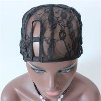 Wholesale Side U Part Wig - Medium Size Right Side U Part Wig Cap For Making U Part Wig Weaving Cap Adjustable Strap On the Back 1PC