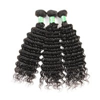 Unprocessed Raw Temple Indian Virgin Human 3 Hair Bundles с 13x4 кружевами Фронтальное закрытие Deep Wave 1B Color Dyeable Cheap Queenlike 7A