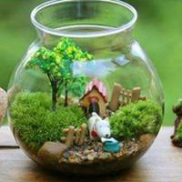 ingrosso simulazione erba artificiale-Nuovo micro paesaggio decorazione fai da te mini fata giardino simulazione piante artificiale finto muschio decorativo prato tappeto erboso erba verde