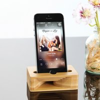Wholesale Dock Amplifier - Multi-Function Cell Phone Stand Holder Bamboo Wood Dock with Sound Amplifier Natural Stands Within 5.5 Inches for iPhone 7 6s Samsung