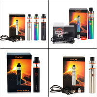 Wholesale Top E Cigs - Smok Stick V8 starter Kit 3000mAh Stick mod Battery 5ml top Filling TFV8 Big Baby Tank VAPE Pen Cloud Beast Smoktech vapor mods e cigs
