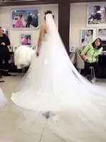 Wholesale Soft White Wedding Veils - Hot Selling Two layer White Bridal Veil 3 meters Tulle Long Wedding Veil Soft Bridal Head With Comb