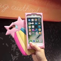 Wholesale Jelly Case For Iphone - 2017 Fashion korea 3D cartoon sweet jelly lollipop candy package love chocolate star rainbow shell soft silicone case For Iphone6 6s 7 7plus