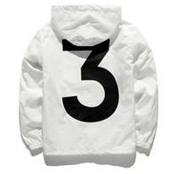 marcas de protección solar al por mayor-Nueva chaqueta anorak sunscreen windbreaker streetwear hip hop kanye viento oeste rompehielos jaqueta marca masculina ropa negro