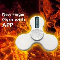 Wholesale App Hand - App Control Design Your Own Words LED Light Fidget Spinner Hand Spinner Fidget Work Ultra Fast Bearings Finger Toy 3003129