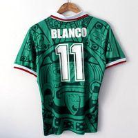 393ca1e41ed 1998 MEXICO RETRO VINTAGE BLANCO Thailand Quality soccer jerseys uniforms  Football Jerseys shirt Embroidery Logo camiseta futbol ...
