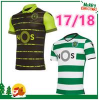 Wholesale Portugal Xl Soccer Jersey - 2017 2018 Sporting Clube de Portugal Lisbon Futbol Camisa Lisboa Dost Martins Soccer Jersey 17 18 Football Camisetas Shirt