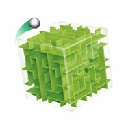Großhandel-Green Maze Magic Cube Puzzle 3D Mini Speed ​​Cube Labyrinth Rolling Ball Spielzeug Puzzle Spiel Cubos Magicos Lernspielzeug für Chilren