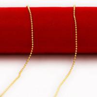 gold gefüllt 24k schmuck großhandel-matte helle perlenkette braut halskette vergoldet halskette, 24 karat gold gefüllt necklacefor 2014 frauen schmuck