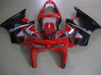 ingrosso zx6r 1998 99-Kit carenatura in plastica di alta qualità per Kawasaki Ninja ZX6R 1998 1999 carenatura rosso nero set ZX6R 98 99 OT11