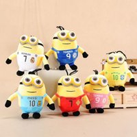 Wholesale Despicable Plush 3d - 20 cm Despicable Me big eyes sprouting small yellow Gong Tsai 3D Eye Despicable Me Plush Toys Valentine's Day Gift