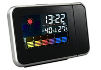 Wholesale Multi Desk Clock - Alarm Clock Constant Projection Desk Temperature Time Display Backlight Snooze Watch LCD Digital Thermometer humidity meter