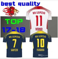 Wholesale Wine Red Silk Shirt - thai quality 2017 2018 RB Leipzig Rugby jersey 17 18 Werner Sabitzer Forsberg Keita jersey HOME shirts Selke Camiseta manchest maillot