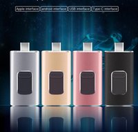 Wholesale 128gb Flash Drive Metal - 4 in1 U disk 16GB 32GB 64GB 128GB Usb Flash Drives Matte Metal Texture USB Memory Stick