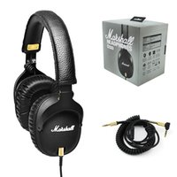 calidad profesional de auriculares al por mayor-Auriculares Marshall Monitor de alta calidad Con Micrófono Profundo Bass DJ Auriculares Hi-Fi Auriculares HiFi Monitor Profesional DJ en el oído Auriculares DHL