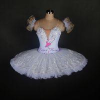 erwachsene schwan kostüm großhandel-Neuer Entwurf des weißen klassischen Ballett-Tutu des Schwanensees für erwachsene Mädchen fertigte professionelle Ballerinatanzkostüme besonders an